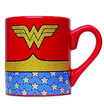 Wonder Woman Glitter Coffee Mug
