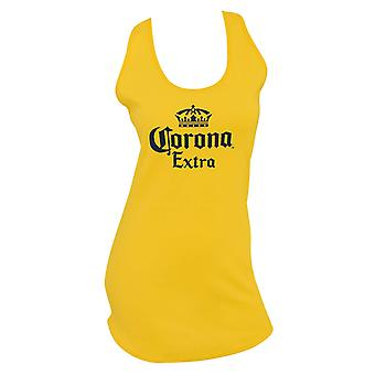 Corona Extra Logo Women's Long Yellow Tank Top