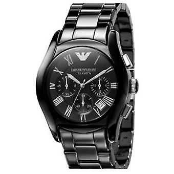 Emporio Armani Watch Ar1400 Men ' s cronógrafo pulseira de cerâmica preta