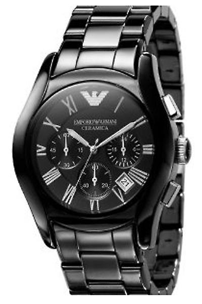Emporio Armani Watch Ar1400 Men's Chronograph Black Ceramic Bracelet