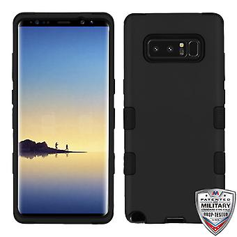 MYBAT Rubberized Black/Black TUFF Hybrid Phone Protector Cover for Galaxy Note 8