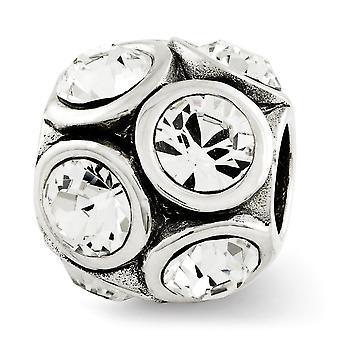 925 Sterling Sølv poleret refleksioner april Crystal Perle Charm Vedhæng halskæde smykker gaver til kvinder