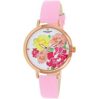 Naf Naf N10892-003 - watch Quartz pink woman leather