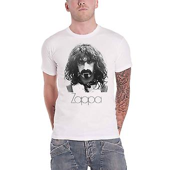 Frank Zappa T Shirt Thin Logo Portrait new Official Mens White