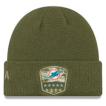New era salute to service winter Hat - Miami Dolphins