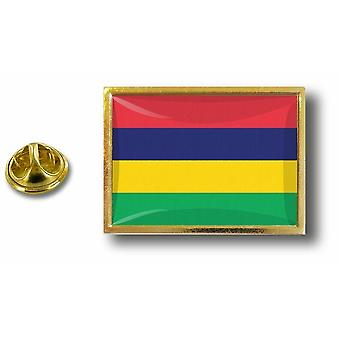 PineS Pin Badge Pin-apos;s Metal Flag Mauritius Mauritius Mauritian