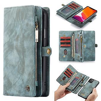 CASEME iPhone 11 Pro Max Retro Split leather wallet Case-Blue