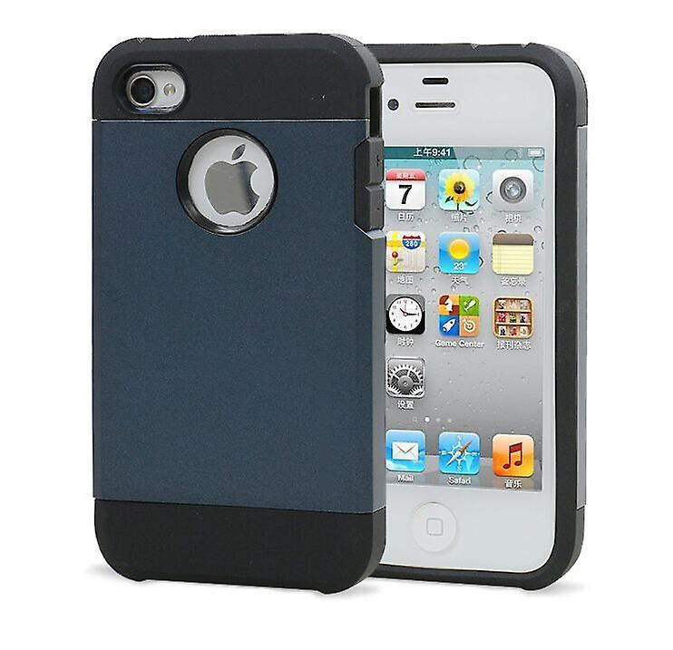 Iphone 4 4S Tough Armor Cover Case Dark Blue