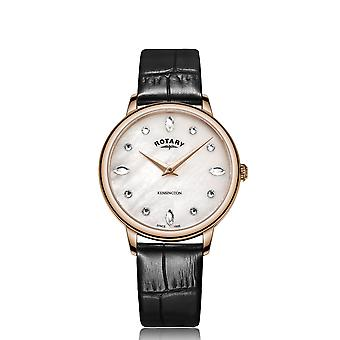 Rotary LS05174-41 Women's Kensington Rose Gold Tone Wristwatch