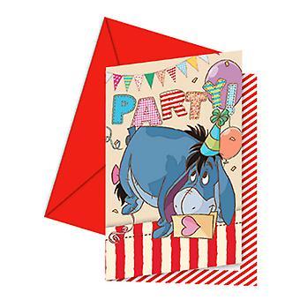 Cartão de convite Winnie the Pooh da Disney com envelopes