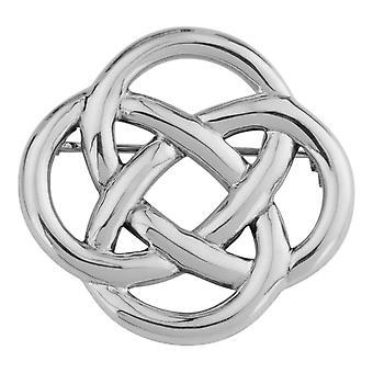 Keltische Ewigkeit Knotenarbeit Interlaced Pin Verschluss Kleidung Kleidung Fibulae Brosche rund geformt