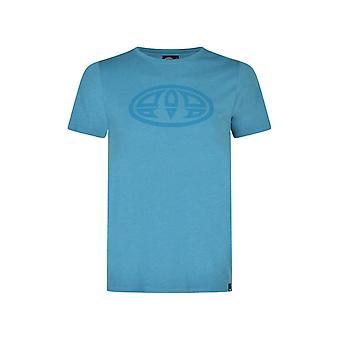 Tier Kostas Kurzarm T-Shirt in Vivid Blue Marl