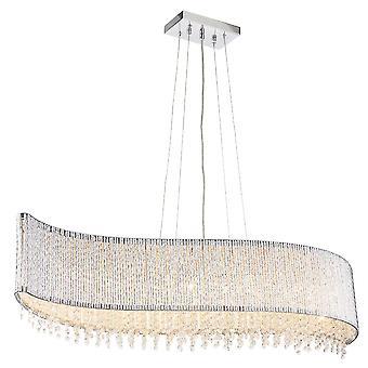 Endon Galina 8 lys vedhæng lys Kromplade & klar krystal 81979