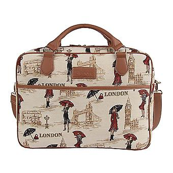 Miss london laptop bag by signare tapestry / 15.6 inch / cpu-msln