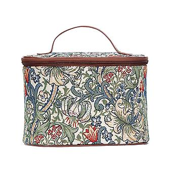 William Morris-goldene Lilie Make-up-Tasche von signare tapestry/toil-glily