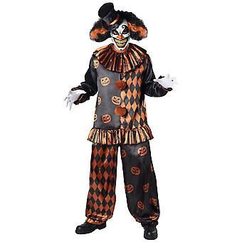 Halloween Clown Horror Joker Evil Creepy Jester Adult Mens Costume M