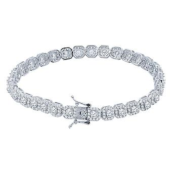 Iced out 925 sterling silver tennis armband-CLUSTER 6mm