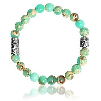 Lauren Steven Design ML063 Bracelet - Jade Men Natural Stone Bracelet