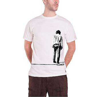 The Doors Solitary Jim Morrison Print Band Logo Official Mens New White T Shirt