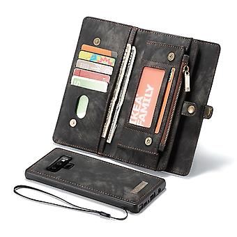 For Samsung Galaxy Note 9 Leather Wallet Case Black Detachable Flip Cover