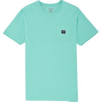 Billabong Men's T-Shirt ~ Stacked aqua