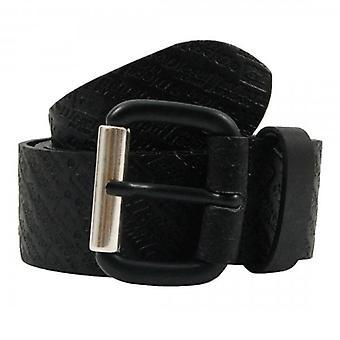 Diesel B-Strip Black Leather Belt