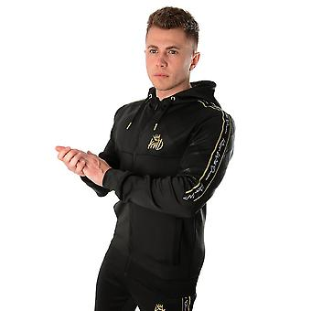 Kings Will Dream | Kwd Velfour 1066 Poly Gold Tape Hood Track Top - Black/gold