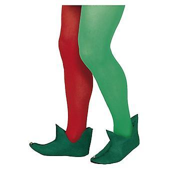 Verde Elf botas de Natal fantasia vestido acessório