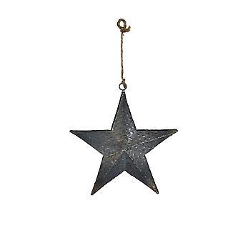 Light & Living Ornament 10x12cm Star Grey