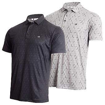 Calvin Klein Mens Rock Face Breathable Umidade Wicking Golf Polo Shirt