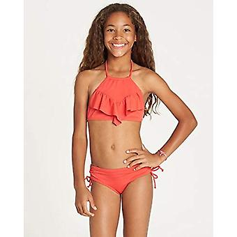 Billabong Girls' Girls' Sol Searcher High Neck Bikini Set Sunset Red 12
