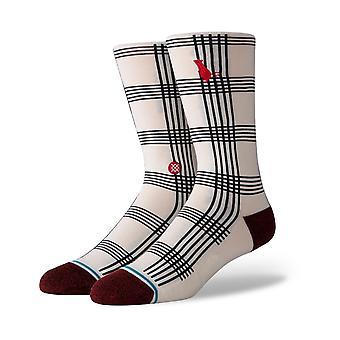 Stance Rat Plaid Crew Socks in White