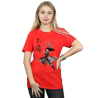 Disney Women's Mulan Movie Sword Jump Boyfriend Fit T-Shirt