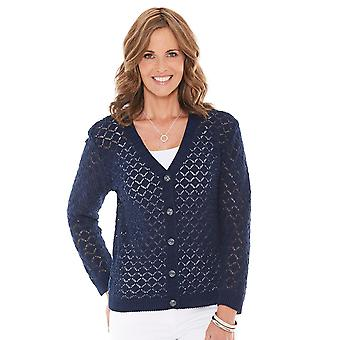 Chums Dames Cardigan Pointelle Brei