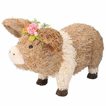 Gisela Graham Bristle Pig Decoration | Gifts From Handpicked