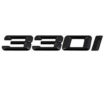Gloss Black BMW 330i bilmodel bag boot nummer brev mærkat decal badge emblem for 3-serien E36 E46 E90 E91 E92 E93 F30 F31 F34 G20