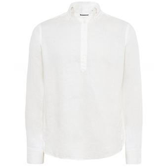 Eton Slim Fit Linnen Popover Shirt