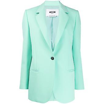 Msgm 2841mdg0420710031 Women's Green Polyester Blazer