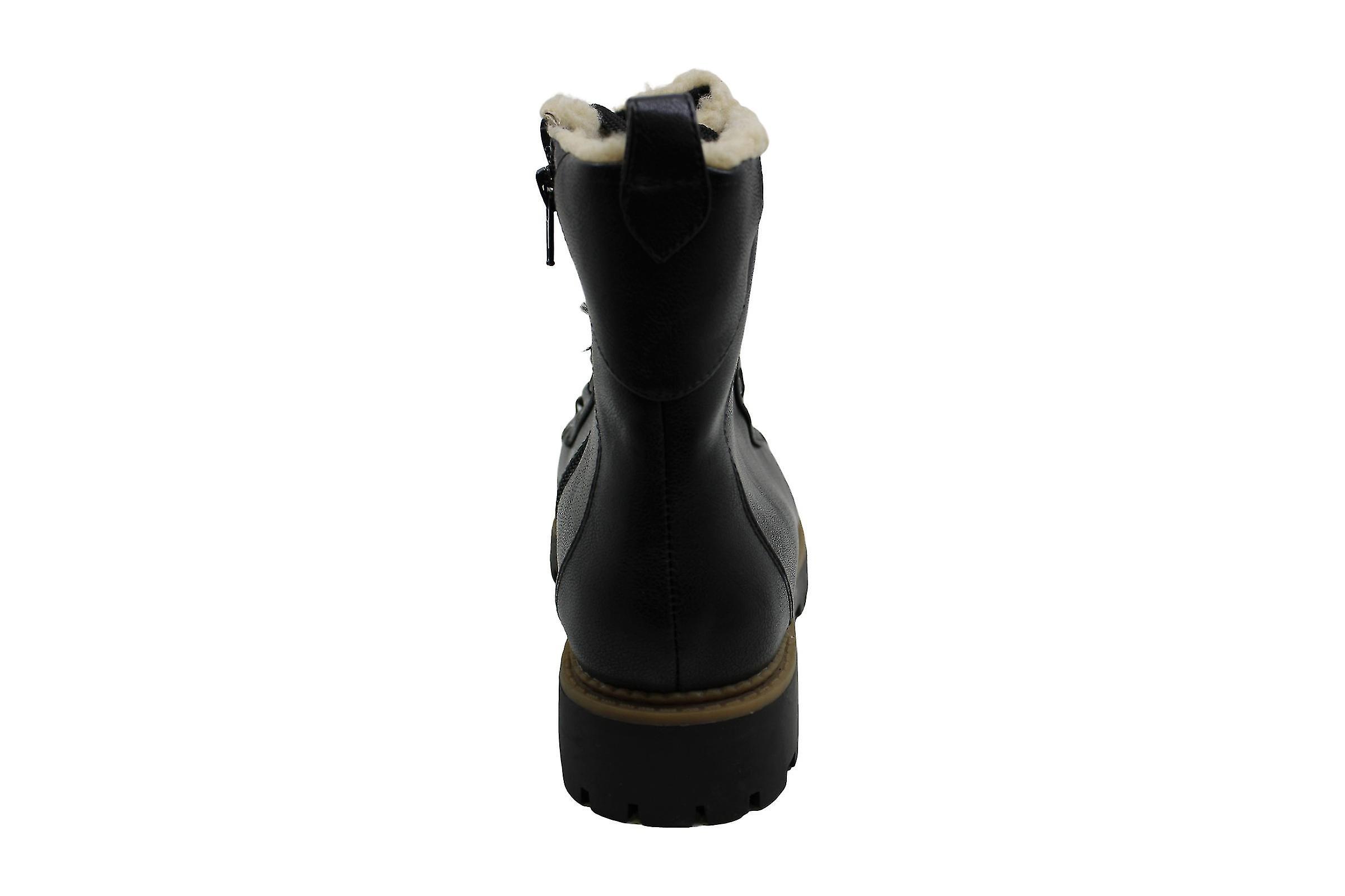 Stivali da combattimento alla moda e Co. Donne Morggan Tessuto Amandorla Toe Ankle Tu8IKf