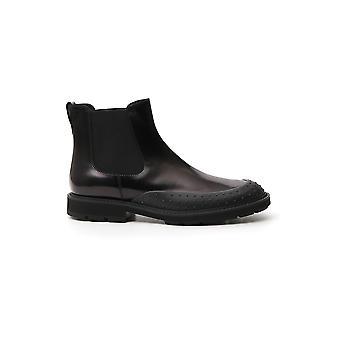 Tod's Xxm05c00p20aktb999 Men's Black Leather Ankle Boots