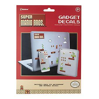 Nintendo Super Mario Gadget Calcomanías reutilizables impermeables pegatinas Home Office
