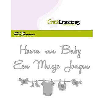 CraftEmotions يموت Tekst -- هويرا een الطفل (NL) بطاقة 11x9cm