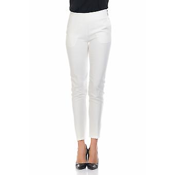 Straight trousers with zip on the side and back pockets