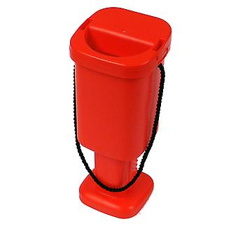 5 Square Charity Money Collection Boxes - Red