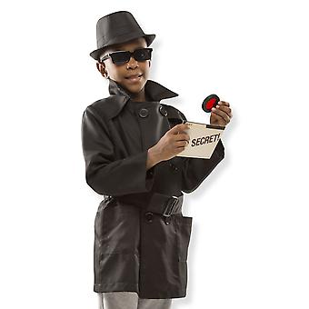 Childrens Melissa and Doug Spy Sleuth Detective Fancy Dress Costume Age 5-8