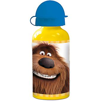 THE SECRET LIFE OF PETS Kids water bottle in aluminium yellow blue 400 ml