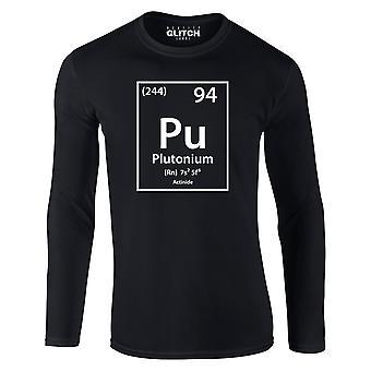 Reality glitch pluton element okresowy układ męski t-shirt - długi rękaw