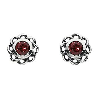 Heritage 3234JAN Stud earrings - with red crystal - in Sterling silver