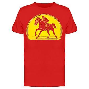 Horse Racing Sunlight Figure Tee Men's -Image by Shutterstock