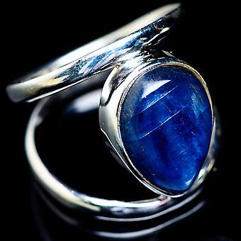 Kyanite Ring Size 8 (925 Sterling Silver)  - Handmade Boho Vintage Jewelry RING5529